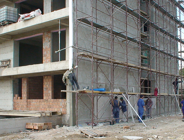 Termoizolatie fatada bloc cu aKtivTHERM Izoheat - Constanta, august 2013